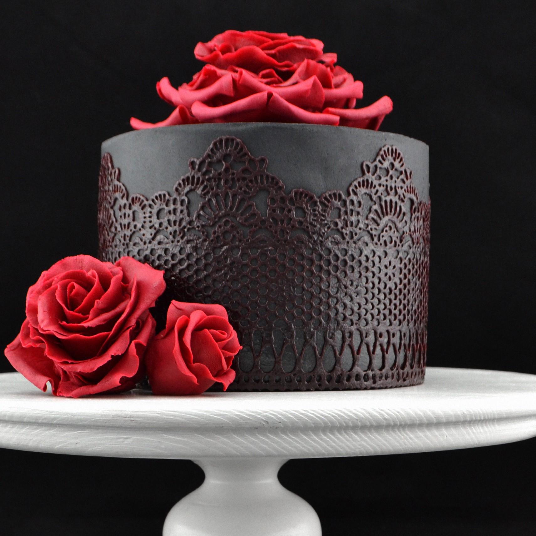 кружева и розы