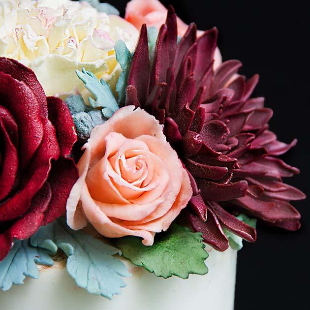 шоколадные цветы1