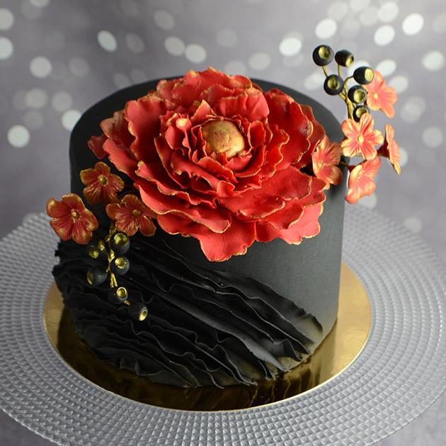 Идеальный торт. Цветы и рюши